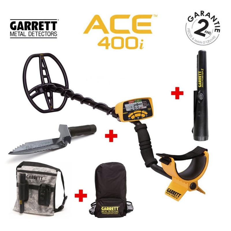 Détecteur de métaux Garrett ACE 400i valeur Guide Affichage NOUVEAU neuf dans sa boîte Trésor métal Sonde