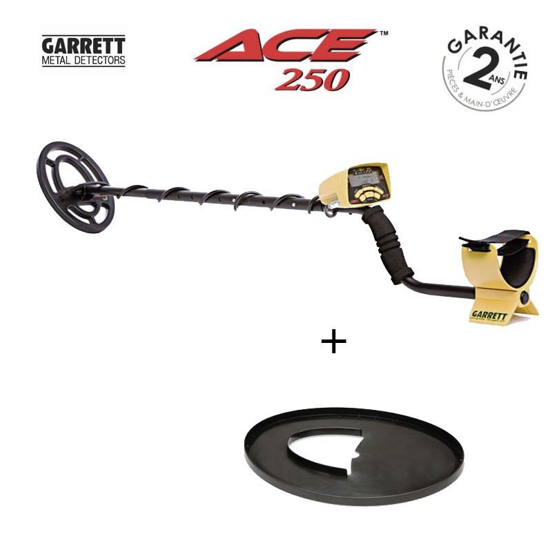 Garrett D/étecteur De M/étaux Ace 250 Livr/é Avec Son Prot/ège Disque.