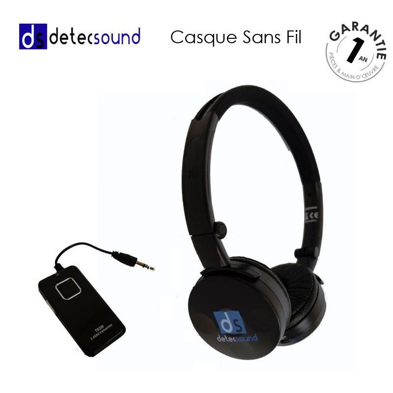 Casque audio sans fil Detec Sound universel
