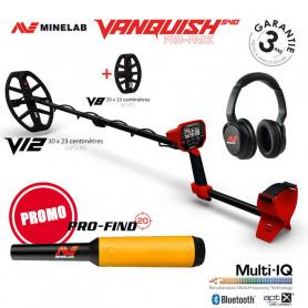 Détecteur de métaux Minelab Vanquish 540 Pro Pack (avec 2 disques)