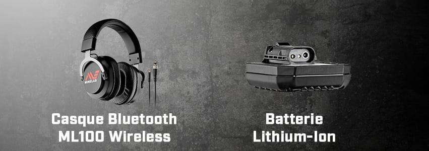 Casque sans fil et batterie Lithium ion GPX 6000