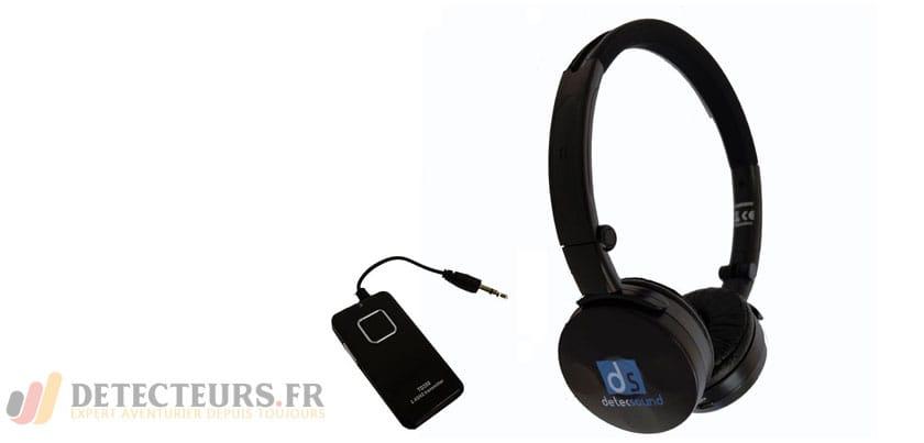 Casque audio sans fil pour détecteur de métaux