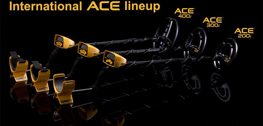 La gamme des détecteurs Garrett ACE 200i, 300i et 400i