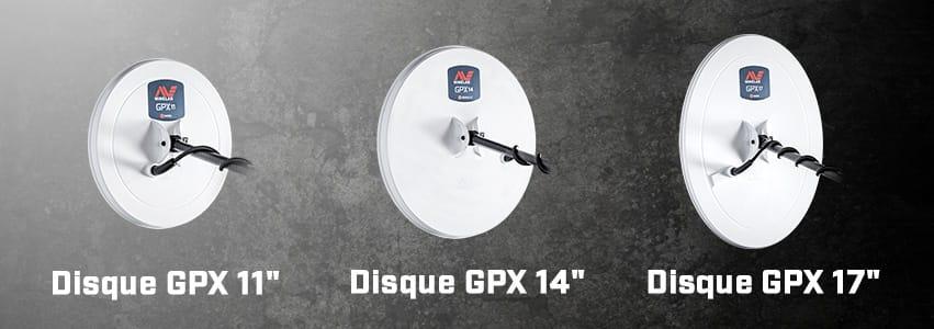 3 Disques disponibles avec le GPX 6000