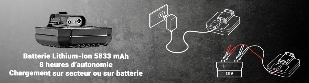 chargement de la batterie du GPX 6000