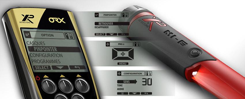 Pointer MI6 XP : connexion au détecteur ORX