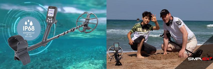 simplex détecteur de métaux étanche plage et plongée